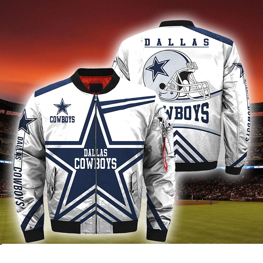 sale retailer f81cb b1363 NFL Jacket Custom Dallas Cowboys Jackets Cheap For Fans