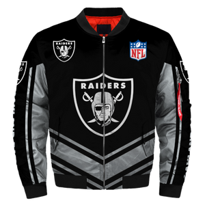 newest collection 0ac29 ed2f4 NFL Jacket Custom Mens Oakland Raiders Jackets Cheap For Fans