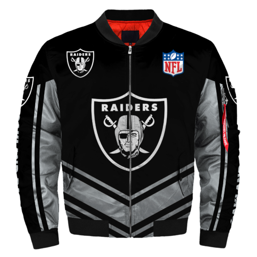 NFL Jacket Custom Mens Oakland Raiders Jackets Cheap For Fans-jacket-4 Fan Shop
