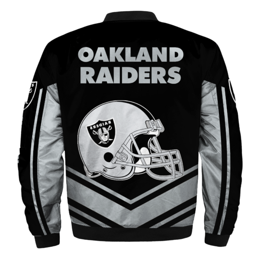newest collection 2063a 40b37 NFL Jacket Custom Mens Oakland Raiders Jackets Cheap For Fans