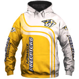 Nashville Predators Zip Up Hoodie 3D Long Sleeve-Sweatshirt-4 Fan Shop