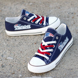 New England Patriots Custom Shoes Low Top Canvas Shoes-Shoes-4 Fan Shop
