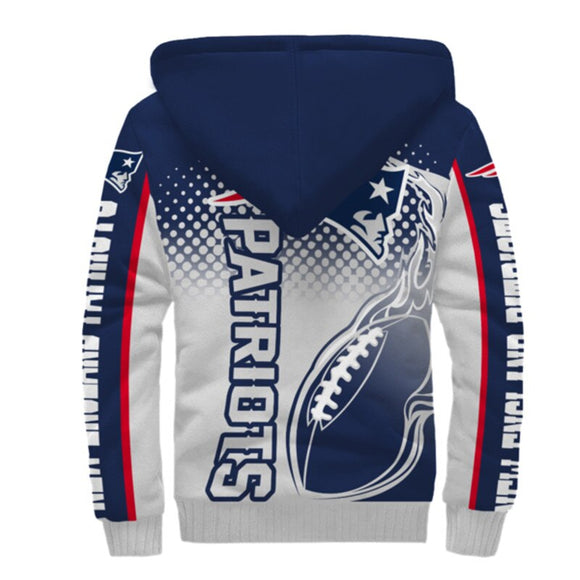 New England Patriots Fleece Jacket Printed Ball Flame 3D-jacket-4 Fan Shop