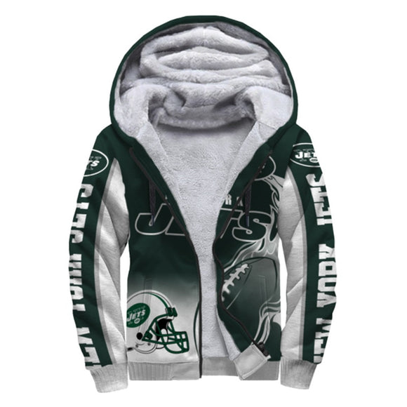 New York Jets Fleece Jacket Printed Ball Flame 3D-jacket-4 Fan Shop