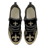 New Orleans Saints Sneakers Big Logo Yeezy Shoes-Shoes-4 Fan Shop