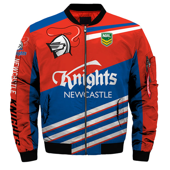 Newcastle Knights Jacket 3D Full-zip Jackets-jacket-4 Fan Shop