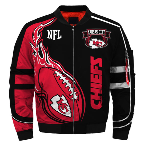 Newest NFL Bomber Jacket Custom Kansas City Chiefs Jacket Cheap-jacket-4 Fan Shop
