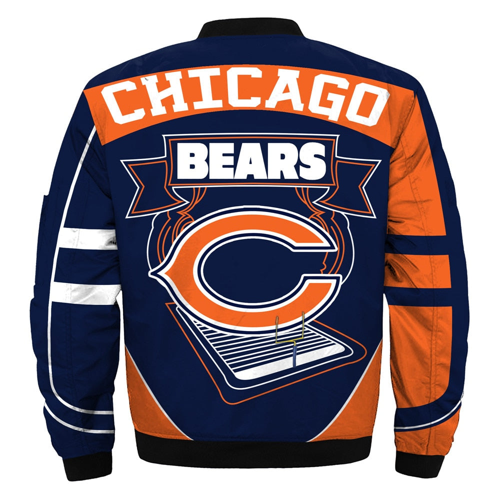 sports shoes a2f0c 33f3a Newest Design 2019 NFL Bomber Jacket Custom Men's Chicago Bears Jacket For  Sale