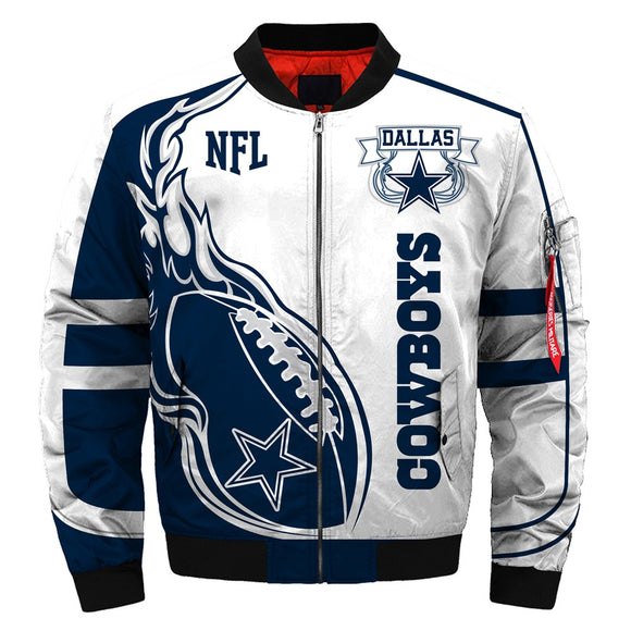 Newest Design 2019 NFL Bomber Jacket Custom Men's Dallas Cowboys Jacket Sale-jacket-4 Fan Shop
