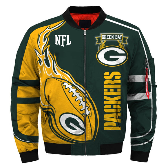 Newest Design 2019 NFL Jacket Custom Men's Green Bay Packers Jackets For Sale-jacket-4 Fan Shop