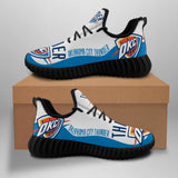 Oklahoma City Thunder Sneakers Big Logo Yeezy Shoes-Shoes-4 Fan Shop