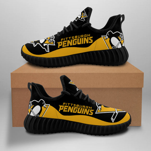 Pittsburgh Penguins Sneakers Big Logo Yeezy Shoes-Shoes-4 Fan Shop