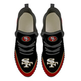 San Francisco 49ers Sneakers Big Logo Yeezy Shoes-Shoes-4 Fan Shop