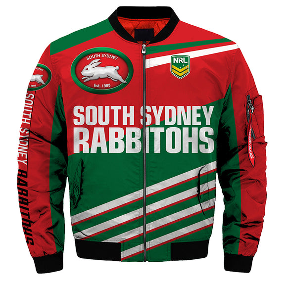 South Sydney Rabbitohs Jacket 3D Full-zip Jackets-jacket-4 Fan Shop