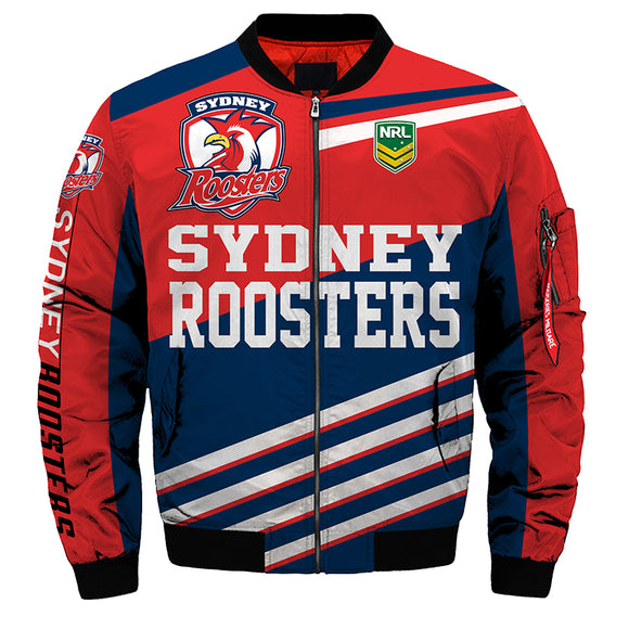 Sydney Roosters Jackets 3D Full-zip Jackets-jacket-4 Fan Shop