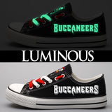 Tampa Bay Buccaneers Shoes Letter Glow In The Dark Shoes-Shoes-4 Fan Shop