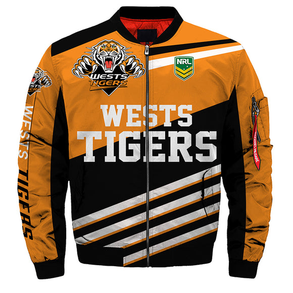 Wests Tigers Jacket 3D Full-zip Jackets-jacket-4 Fan Shop