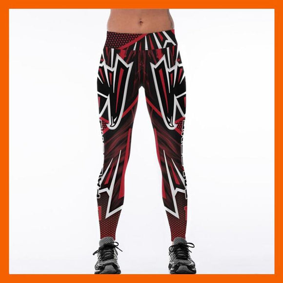 Atlanta Falcons 3D Print YOGA Gym Sports Leggings High Waist Fitness Pant Workout Trousers-Leggings-4 Fan Shop