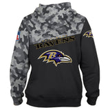 Baltimore Ravens Military Hoodies 3D Sweatshirt Long Sleeve-Sweatshirt-4 Fan Shop