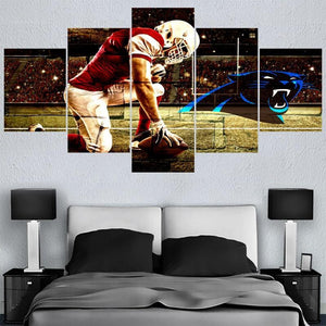 Carolina Panthers Canvas Wall Art For Sale Home Decor For Living Room Bedroom-canvas paintings-4 Fan Shop