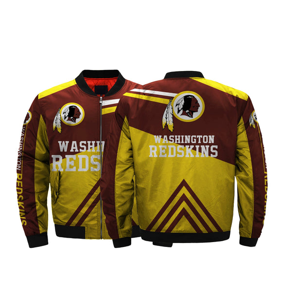 Cheapest NFL Jacket Men Washington Redskins Bomber Jacket For Sale-jacket-4 Fan Shop