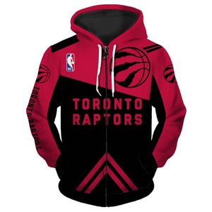 Cheapest Toronto Raptors Hoodies 3D Zip Up Sweatshirt Pullover-Sweatshirt-4 Fan Shop
