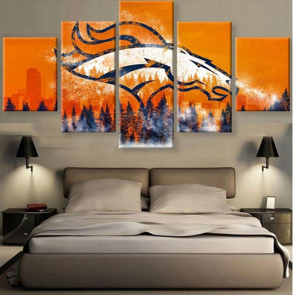 Denver Broncos Canvas Wall Art Cheap For Living Room Wall Decor-canvas paintings-4 Fan Shop