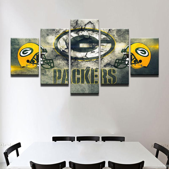 Green Bay Packers Canvas Wall Art Cheap For Living Room Wall Decor 2-canvas paintings-4 Fan Shop