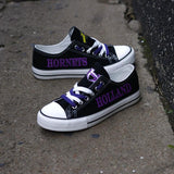 Novelty Design Canvas Shoes Printed Custom Logo Holland Hornets High School-Shoes-4 Fan Shop