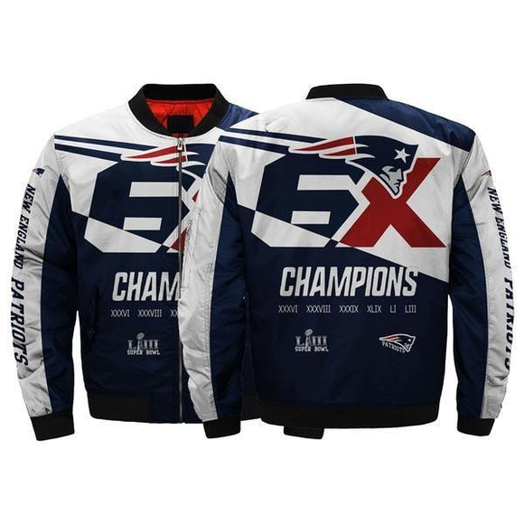 Hot New England Patriots 6x Super Bowl Jacket Championship For Fan-jacket-4 Fan Shop