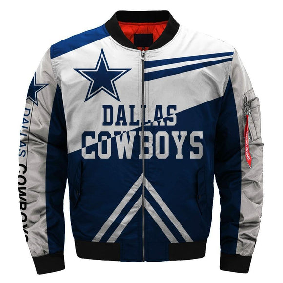 Hot Sale NFL Football Men's Bomber Jacket Dallas Cowboys Bomber Jacket For Sale-jacket-4 Fan Shop