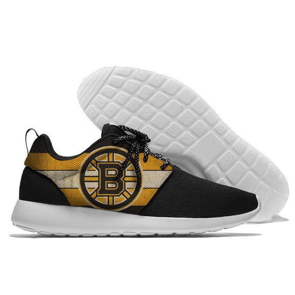 Hot Sale NHL Shoes Sneaker Lightweight Custom Boston Bruins Shoes Super Comfort-Running Shoes-4 Fan Shop