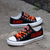 Low Price NHL Shoes Custom Calgary Flames Shoes For Fans Super Comfort-4 Fan Shop