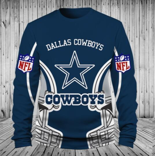 official photos 3742b 7efb8 Low Price NFL Football Dallas Cowboys 3D Hoodie With Zipper Sweatshirt  Jacket Pullover