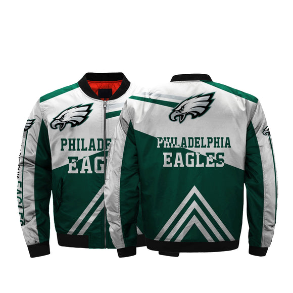 Low Price NFL Jacket Men Philadelphia Eagles Bomber Jacket For Sale-jacket-4 Fan Shop