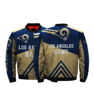 huge discount d42ee 2848e Low Price NFL Jackets 3D Los Angeles Rams Bomber Jacket For ...