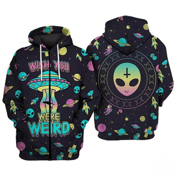 Men's 3D Hoodies Cheap Crazy extra-terrestrial Funny 3D Hoodies Sweatshirt-Sweatshirt-4 Fan Shop