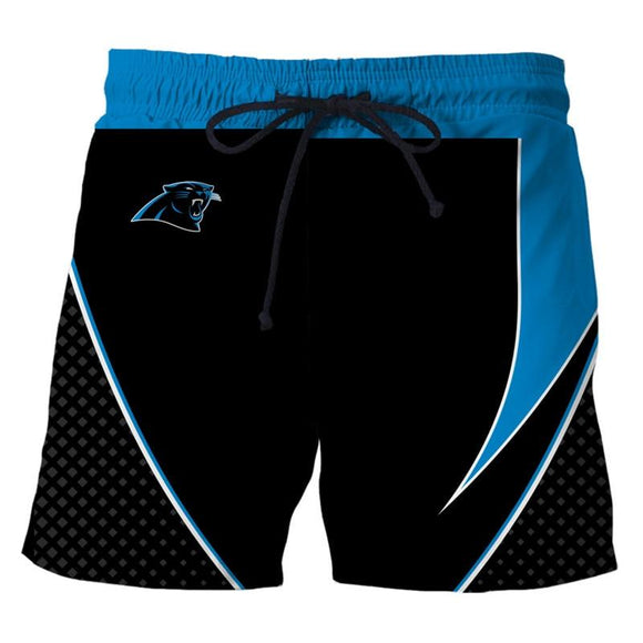Men's Carolina Panthers Shorts For Gym Fitness Running-shorts-4 Fan Shop