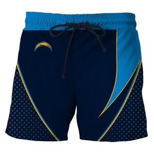 Men's Los Angeles Chargers Shorts For Gym Fitness Running-shorts-4 Fan Shop