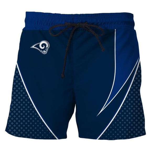 Men's Los Angeles Rams Shorts For Gym Fitness Running-shorts-4 Fan Shop