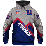 Men's New York Giants Hoodie Cheap 3D Sweatshirt Pullover-Sweatshirt-4 Fan Shop