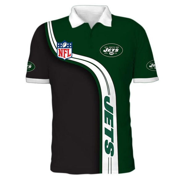 Men's New York Jets Polo Shirt 3D-polo t shirt-4 Fan Shop