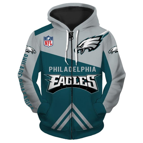 detailed pictures cd226 0aed7 18% OFF Men's Philadelphia Eagles Hoodies Cheap 3D ...