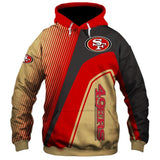 Men's San Francisco 49ers Hoodies Cheap 3D Sweatshirt Pullover-Sweatshirt-4 Fan Shop