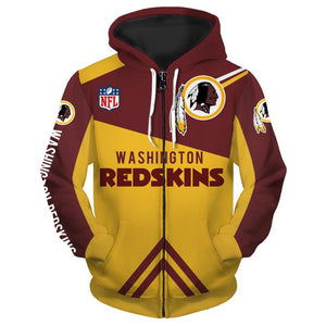 Men's Washington Redskins Sweatshirt Cheap 3D Hoodies Pullover-Sweatshirt-4 Fan Shop