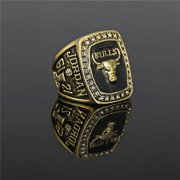 NBA Basketball 1991 Chicago Bulls Championship Ring Color Gold-Ring-4 Fan Shop