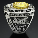 NBA Basketball 2017 Golden State Warrior Curry MVP Championship Rings Color Silver-Ring-4 Fan Shop