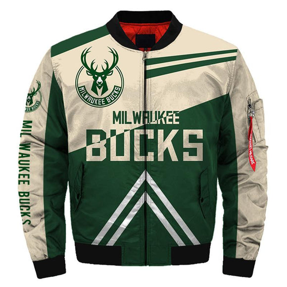 NBA Bomber Jacket Men Milwaukee Bucks Jacket For Sale-jacket-4 Fan Shop