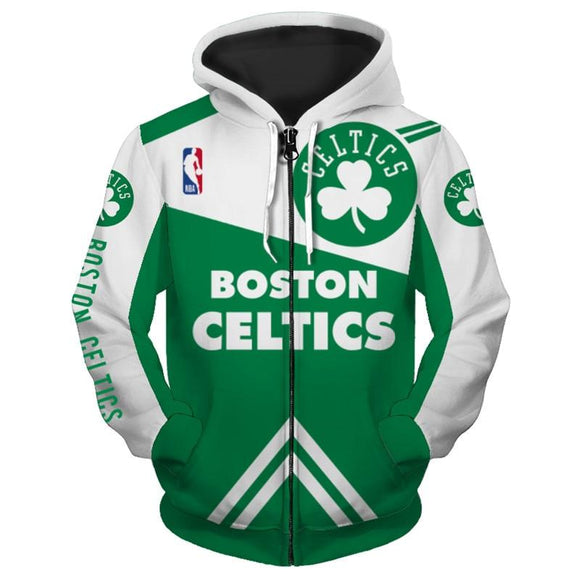NBA Hoodies Print 3D Boston Celtics Hoodie Zip Up Sweatshirt Pullover-Sweatshirt-4 Fan Shop