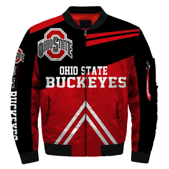 NCAA Bomber Jacket Men Ohio State Buckeyes Jacket Sale-jacket-4 Fan Shop